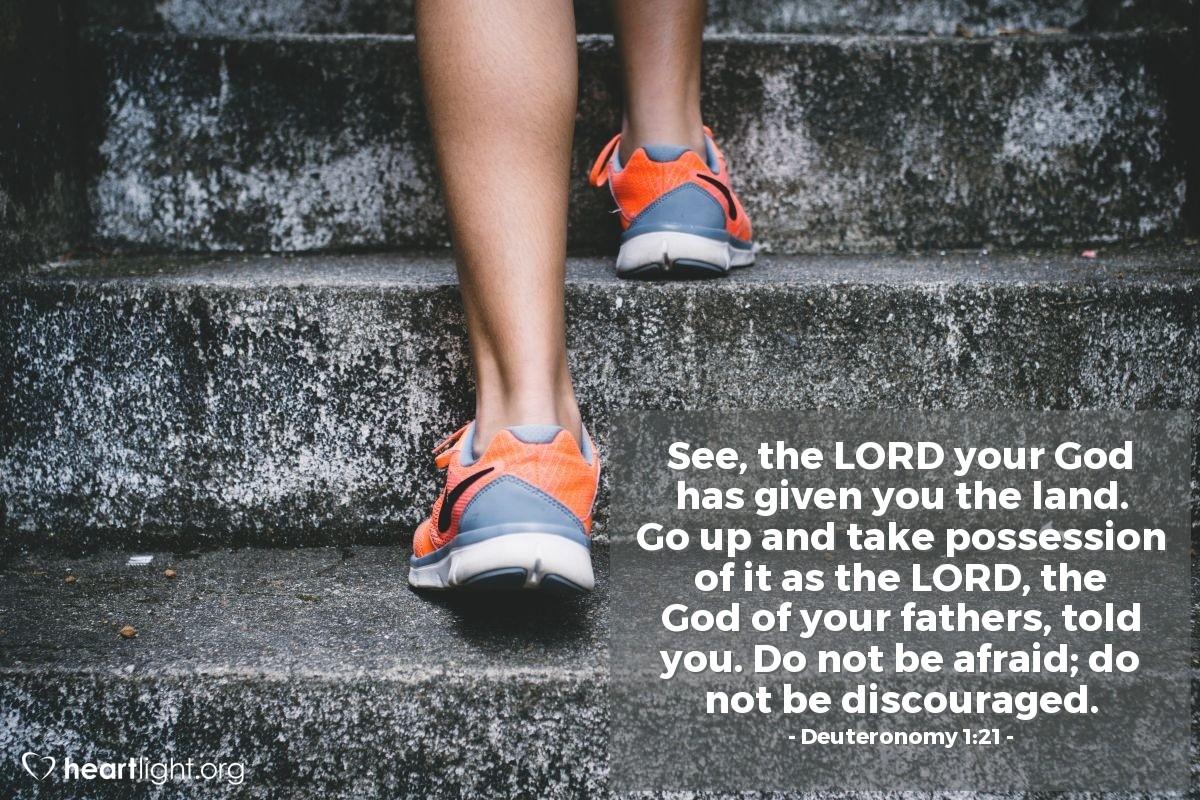 Inspirational illustration of Deuteronomy 1:21
