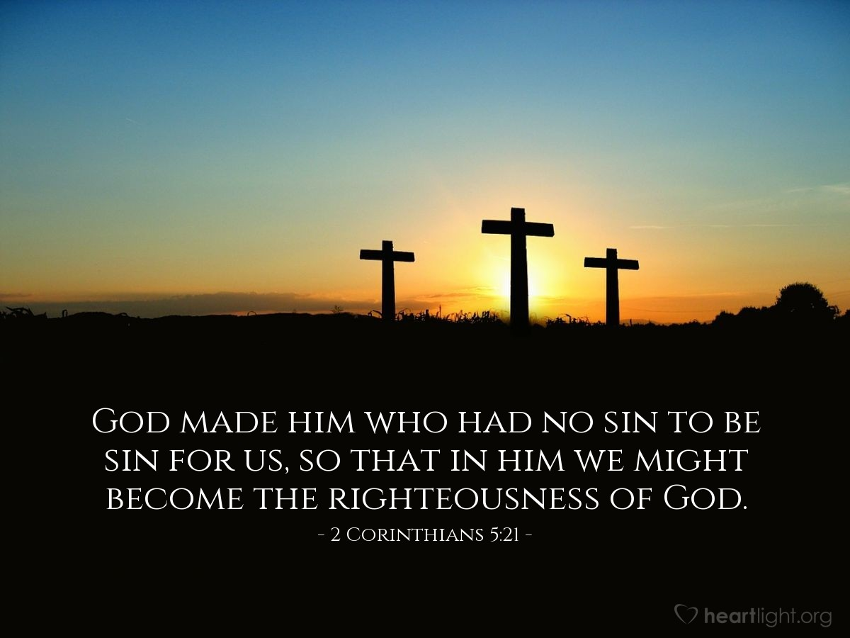 Inspirational illustration of 2 Corinthians 5:21