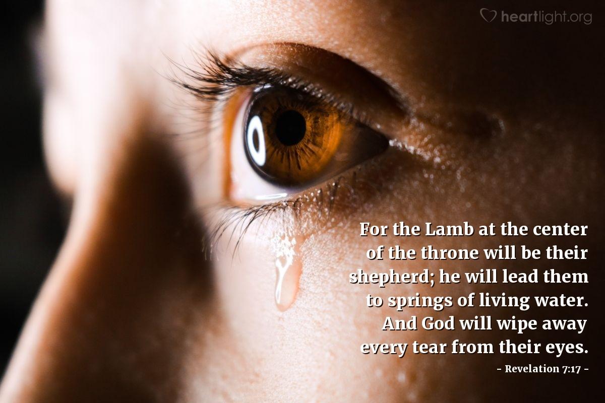 Inspirational illustration of Revelation 7:17