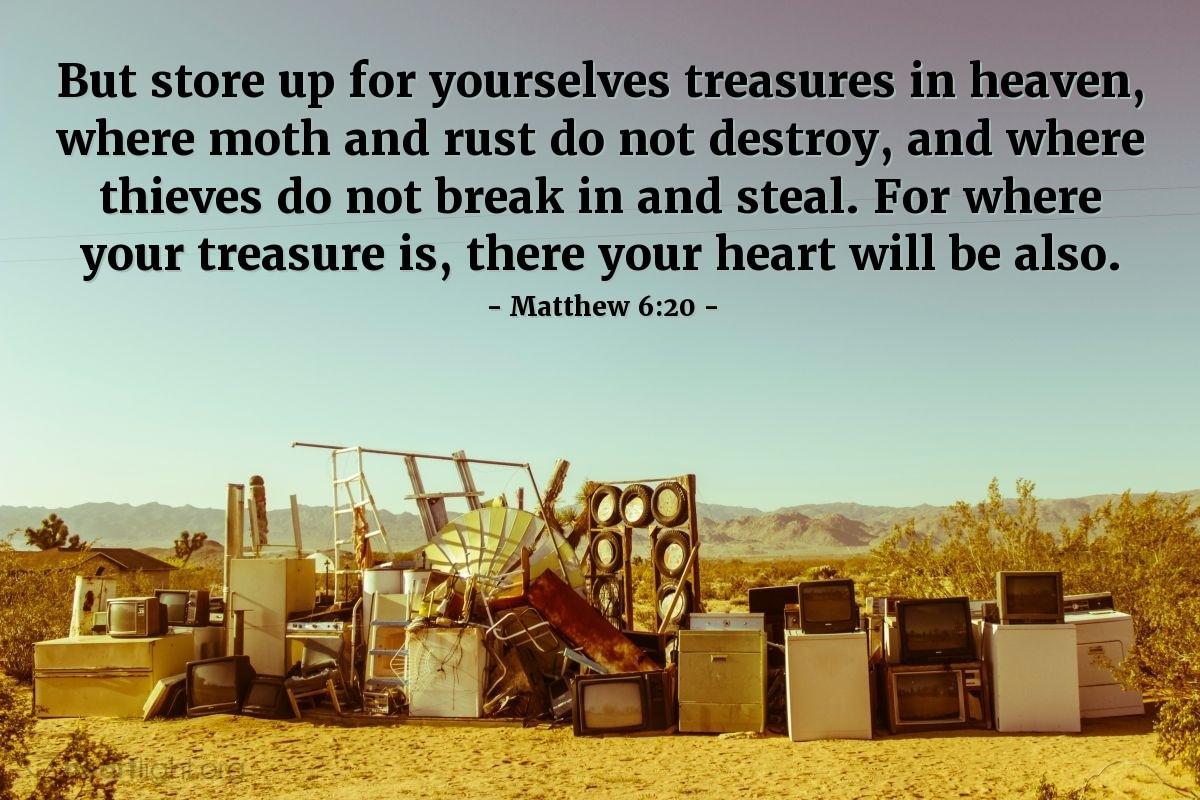 Inspirational illustration of Matthew 6:20