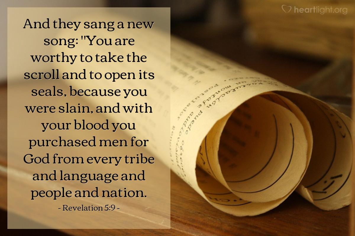 Inspirational illustration of Revelation 5:9