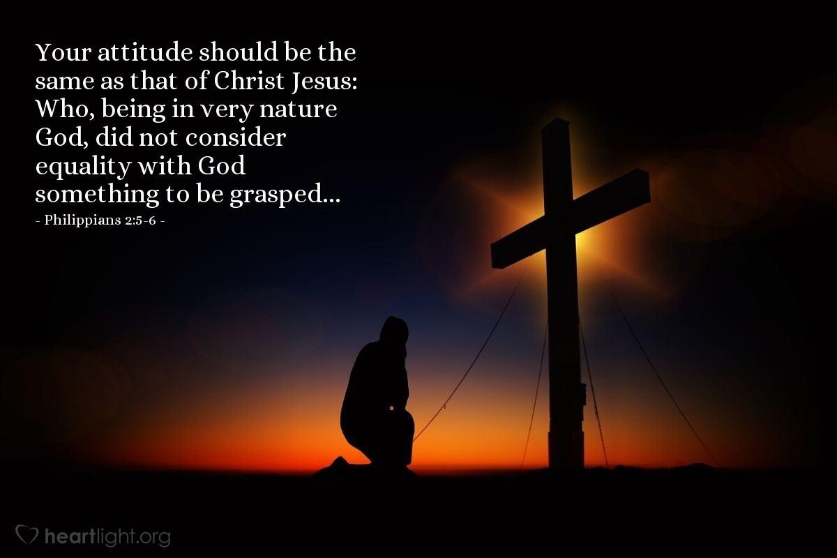 Inspirational illustration of К Филиппийцам 2:5-6