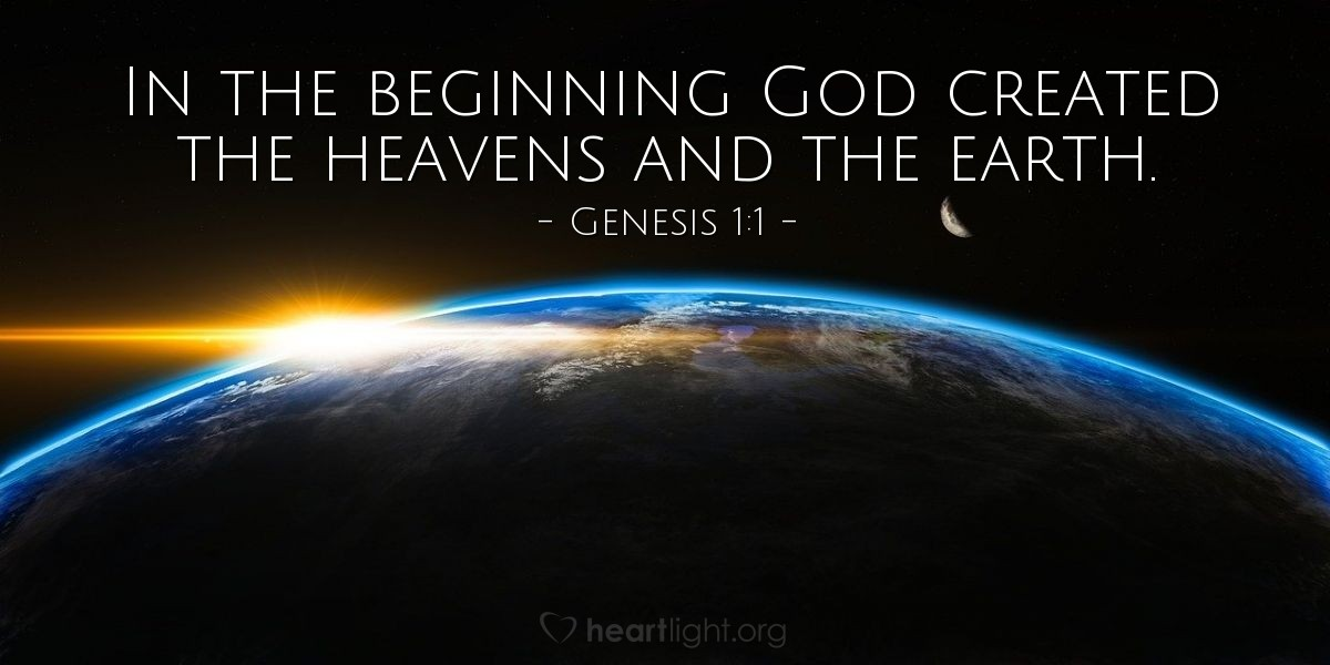 Inspirational illustration of Genesis 1:1