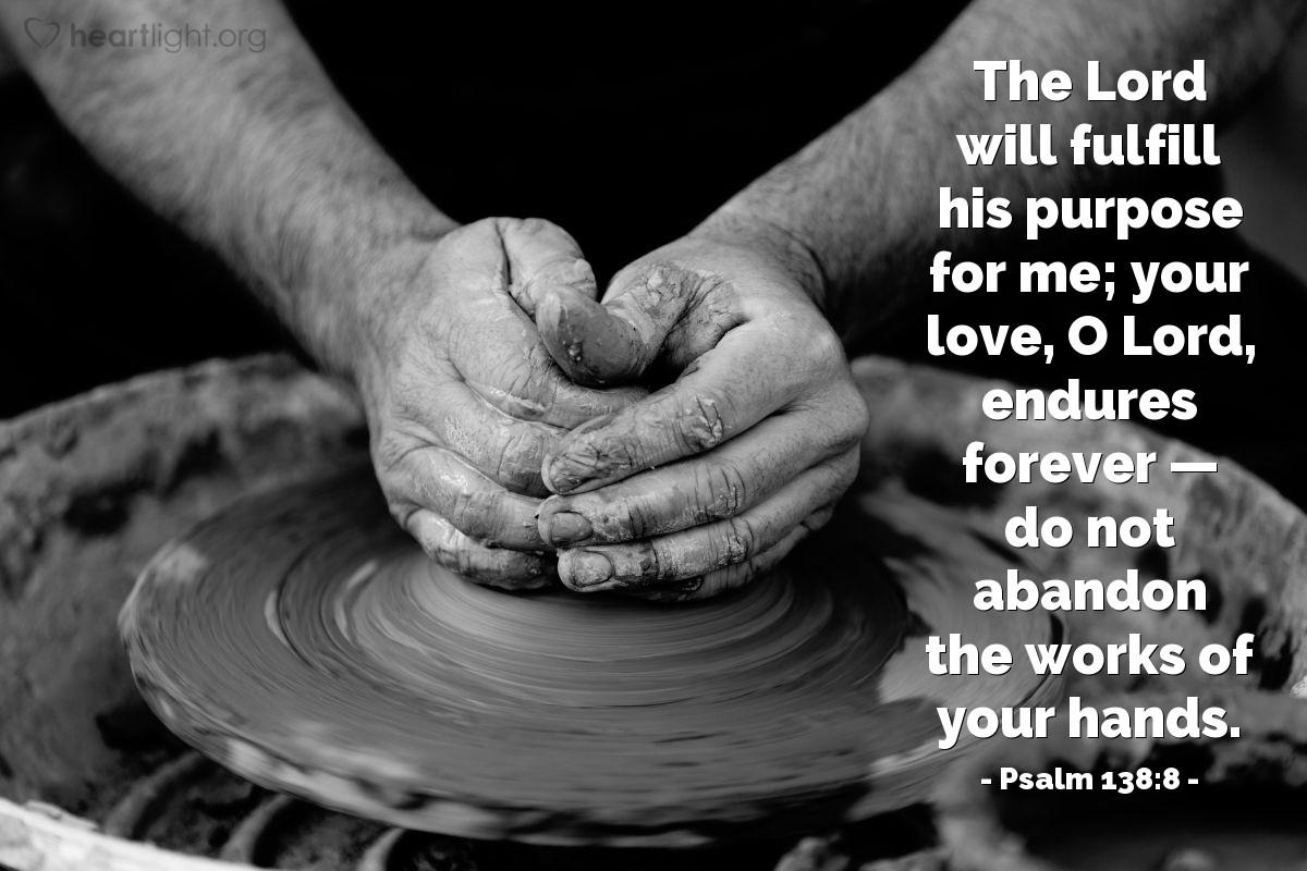 Inspirational illustration of Psalm 138:8