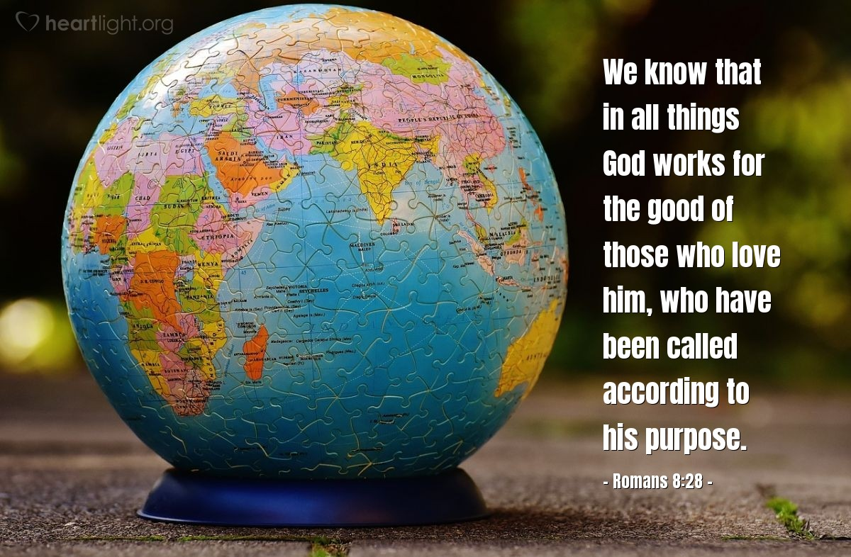 Inspirational illustration of Romans 8:28