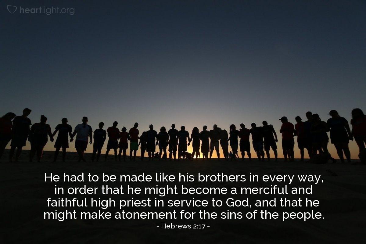 Inspirational illustration of Hebrews 2:17