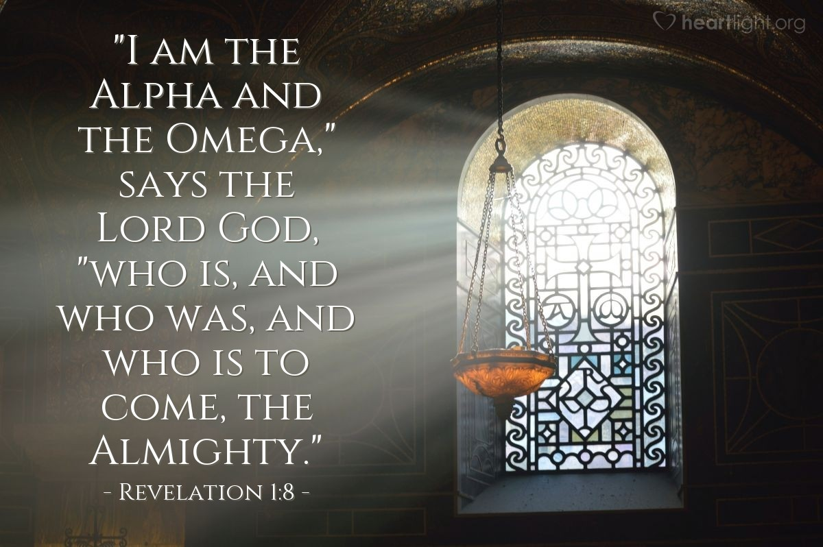 Inspirational illustration of Revelation 1:8