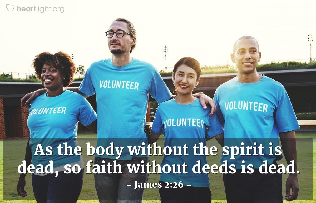 Inspirational illustration of James 2:26