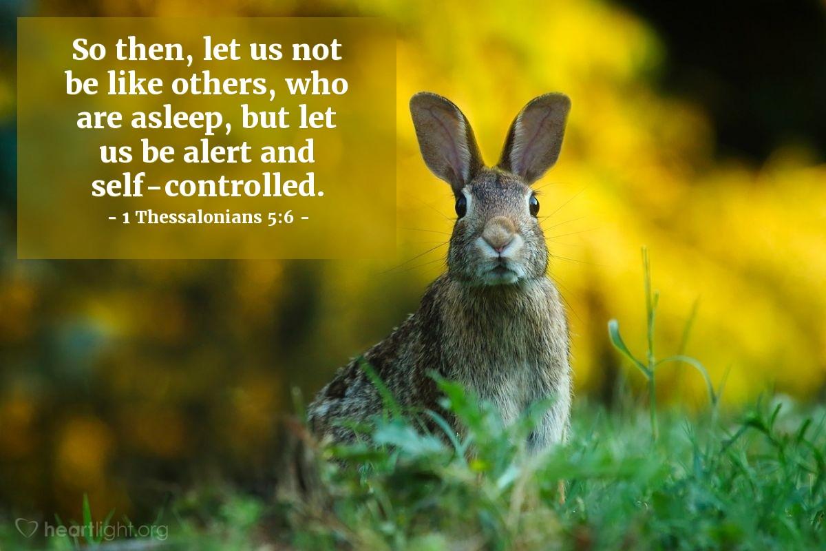 Inspirational illustration of تسالونيكي الأولى 6:5