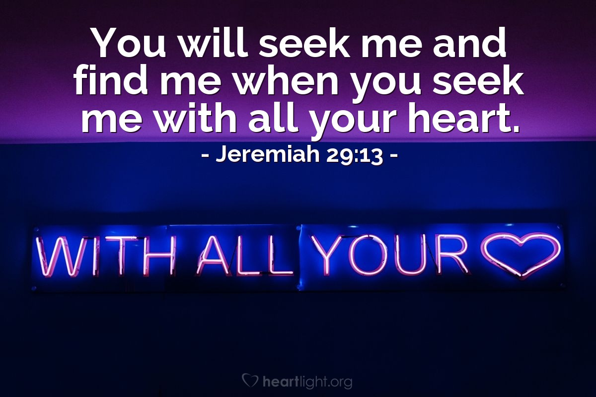 Inspirational illustration of Jeremiah 29:13