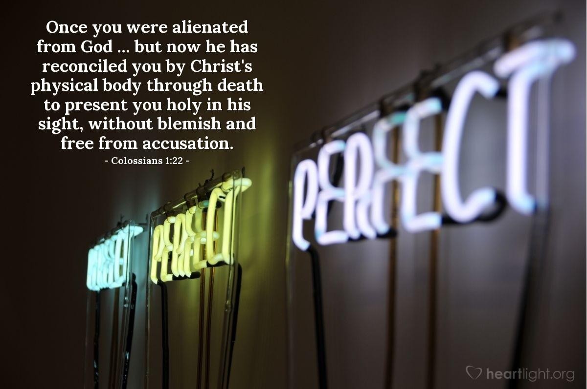 Inspirational illustration of Colossians 1:22