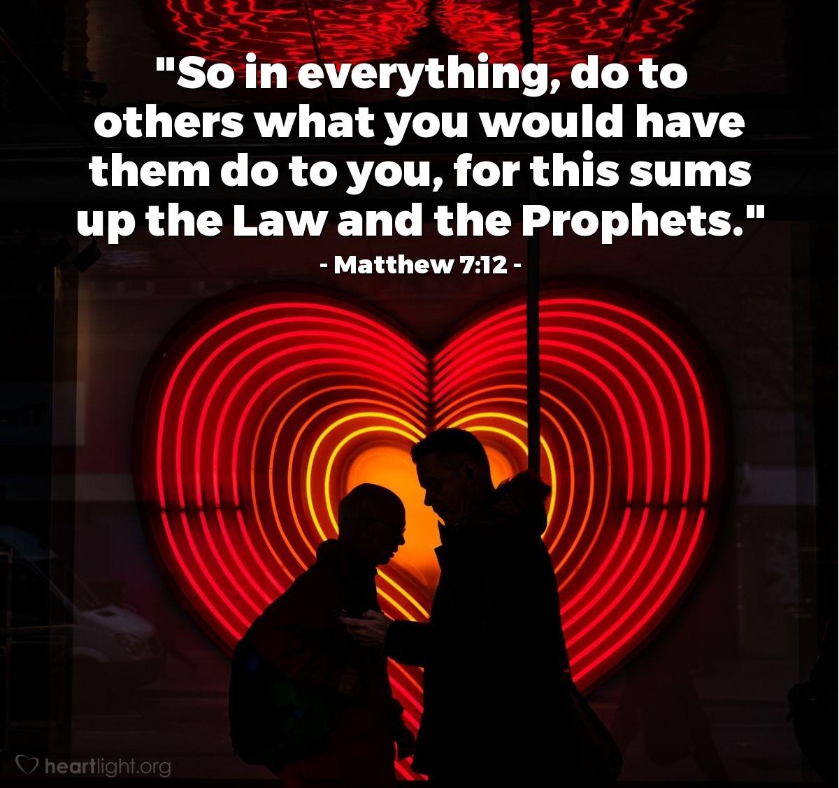 Inspirational illustration of Matthew 7:12