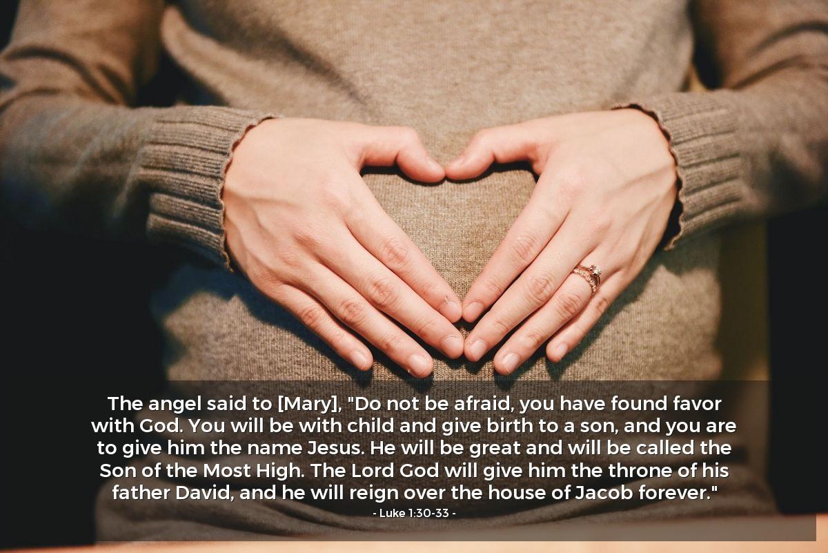 Inspirational illustration of Luke 1:30-33