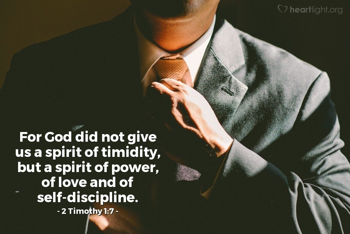 Inspirational illustration of 2 Timothy 1:7
