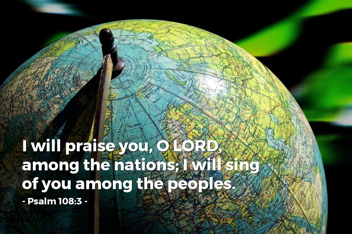 Inspirational illustration of Psalm 108:3