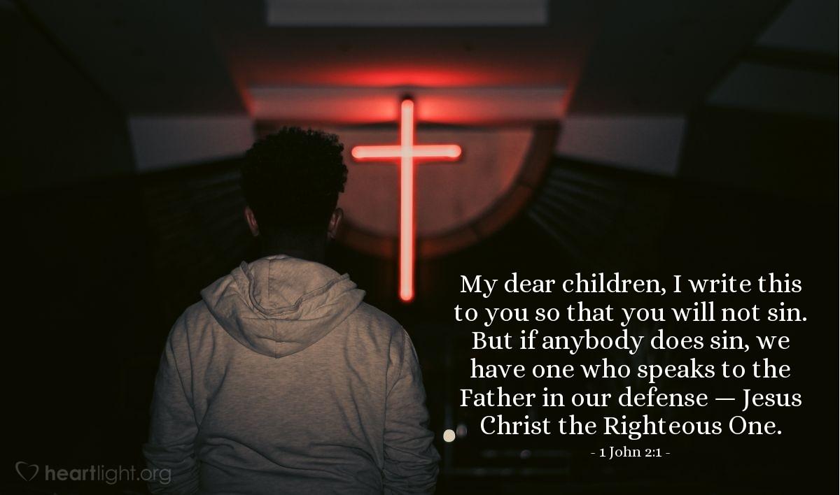 Inspirational illustration of 1 John 2:1