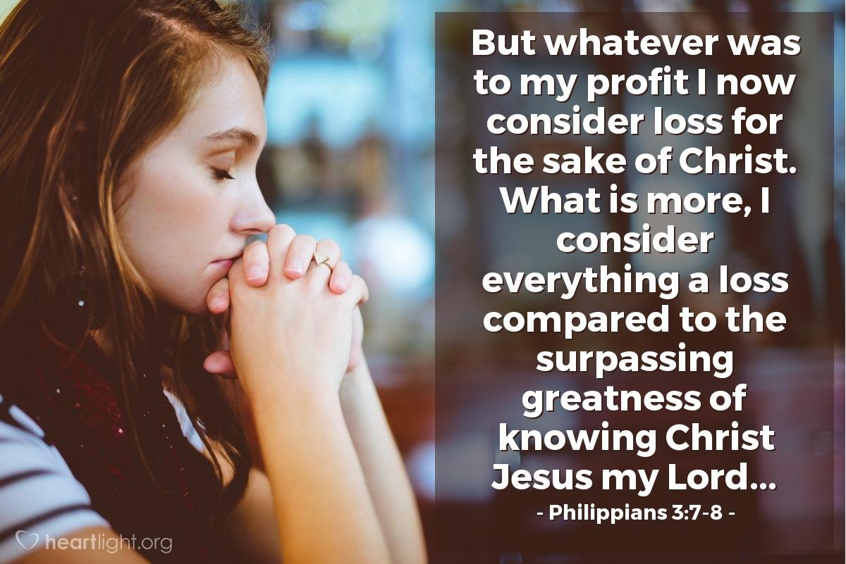 Inspirational illustration of Philippians 3:7-8