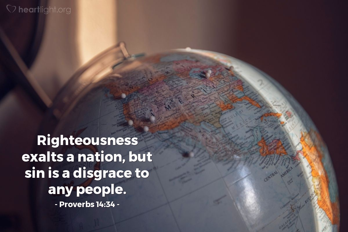 Inspirational illustration of Proverbs 14:34