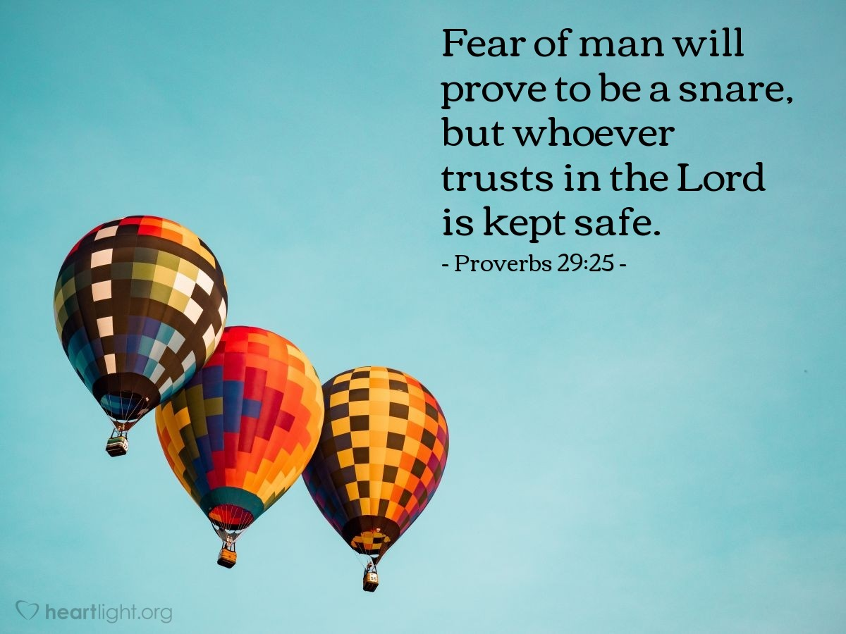 Inspirational illustration of Proverbs 29:25