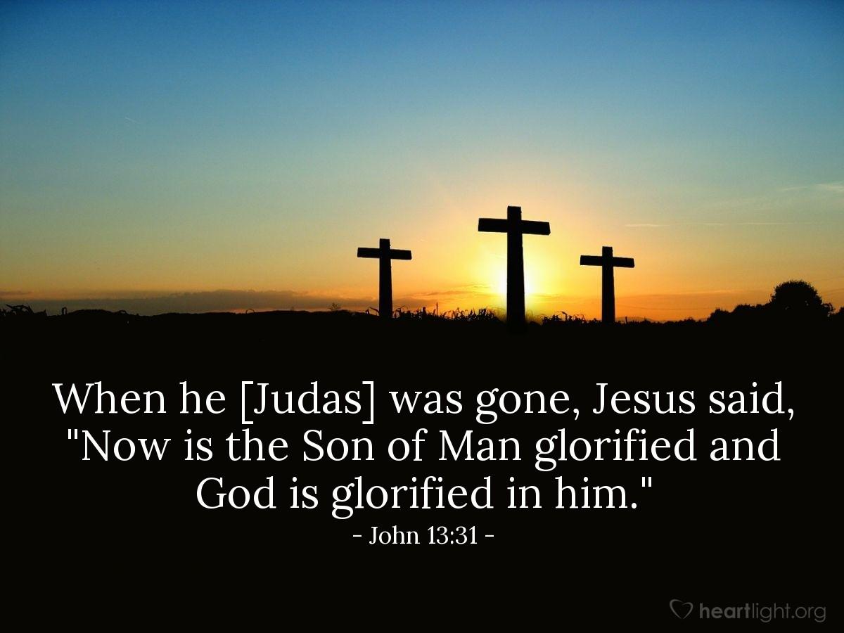Inspirational illustration of John 13:31