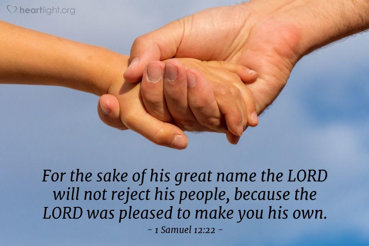 Inspirational illustration of 1 Samuel 12:22