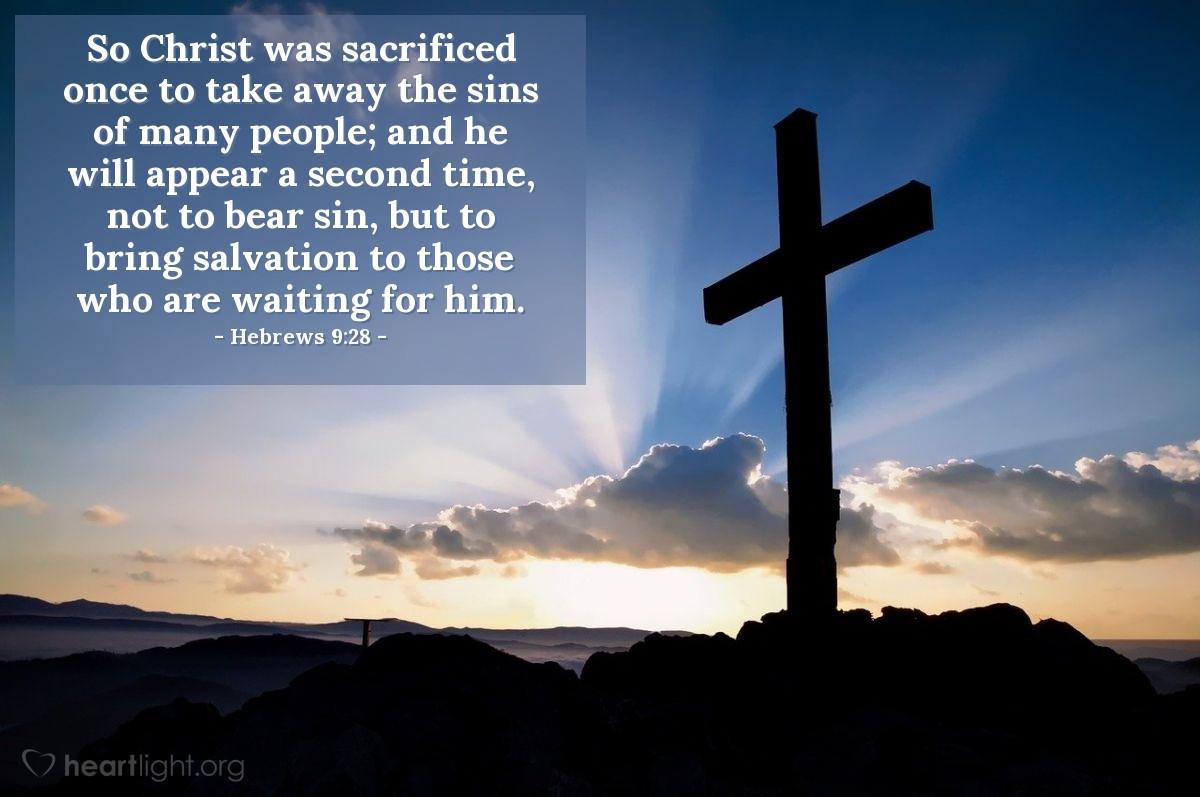 Inspirational illustration of Hebrews 9:28