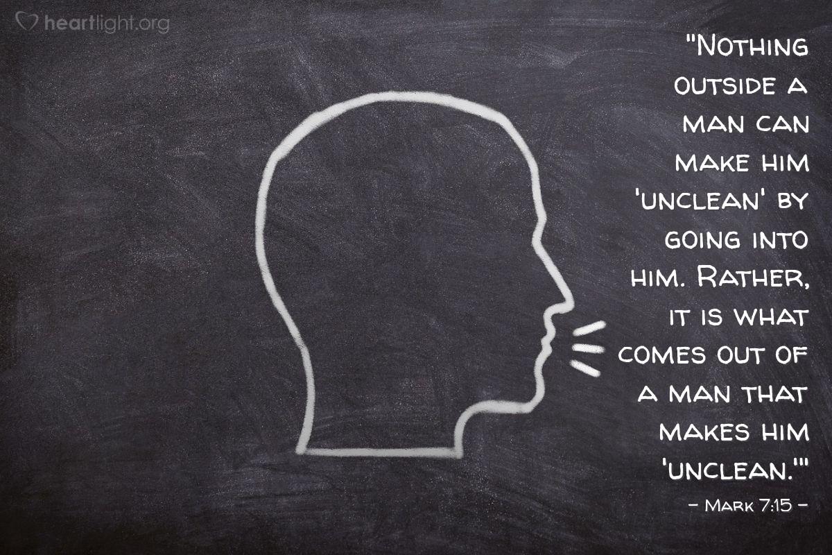 Inspirational illustration of Mark 7:15