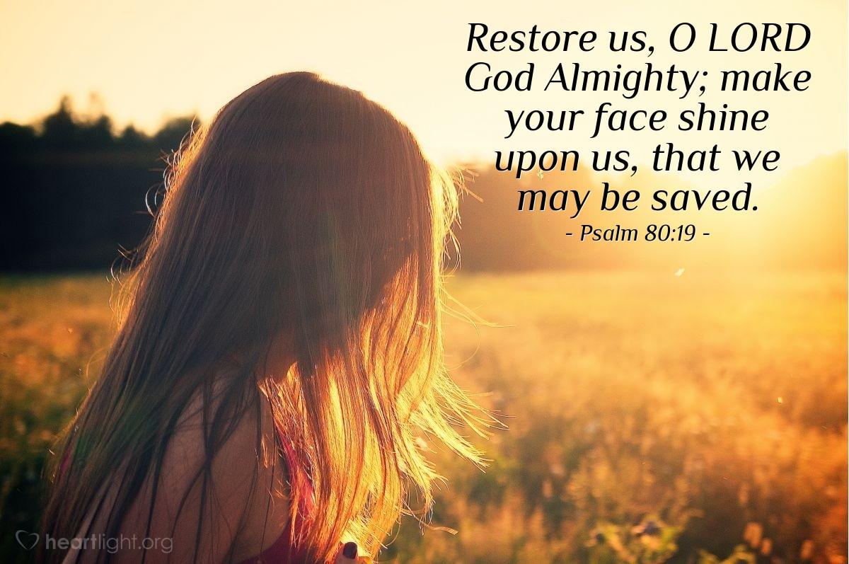Inspirational illustration of Psalm 80:19
