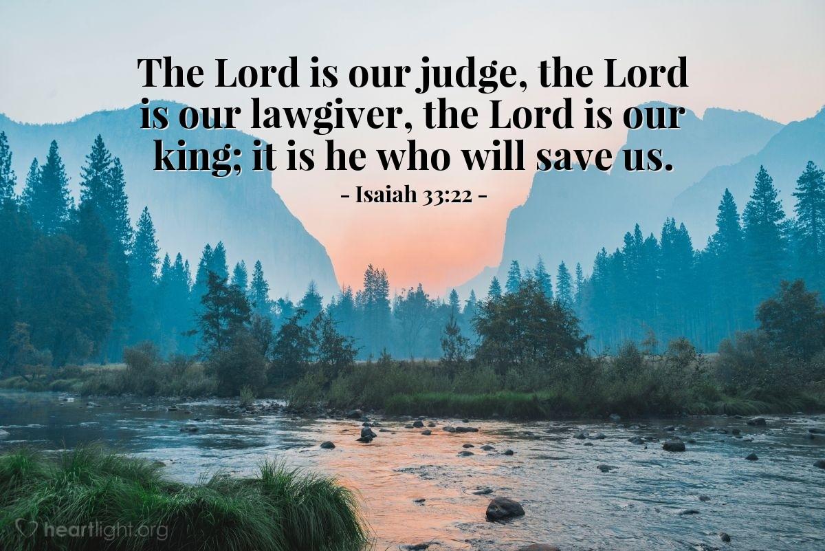 Inspirational illustration of Isaiah 33:22