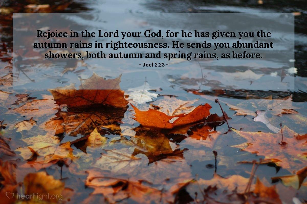 Inspirational illustration of Joel 2:23