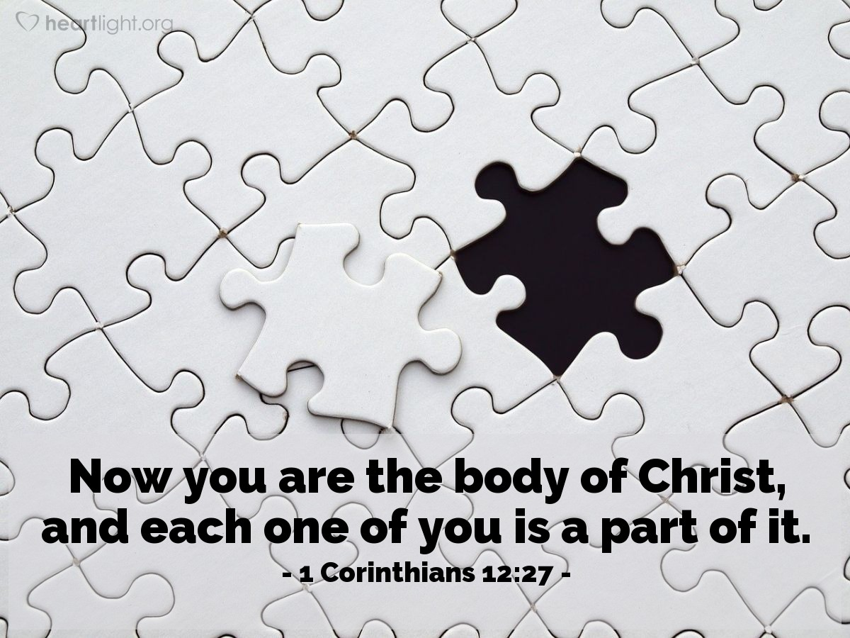 Inspirational illustration of 1 Corinthians 12:27