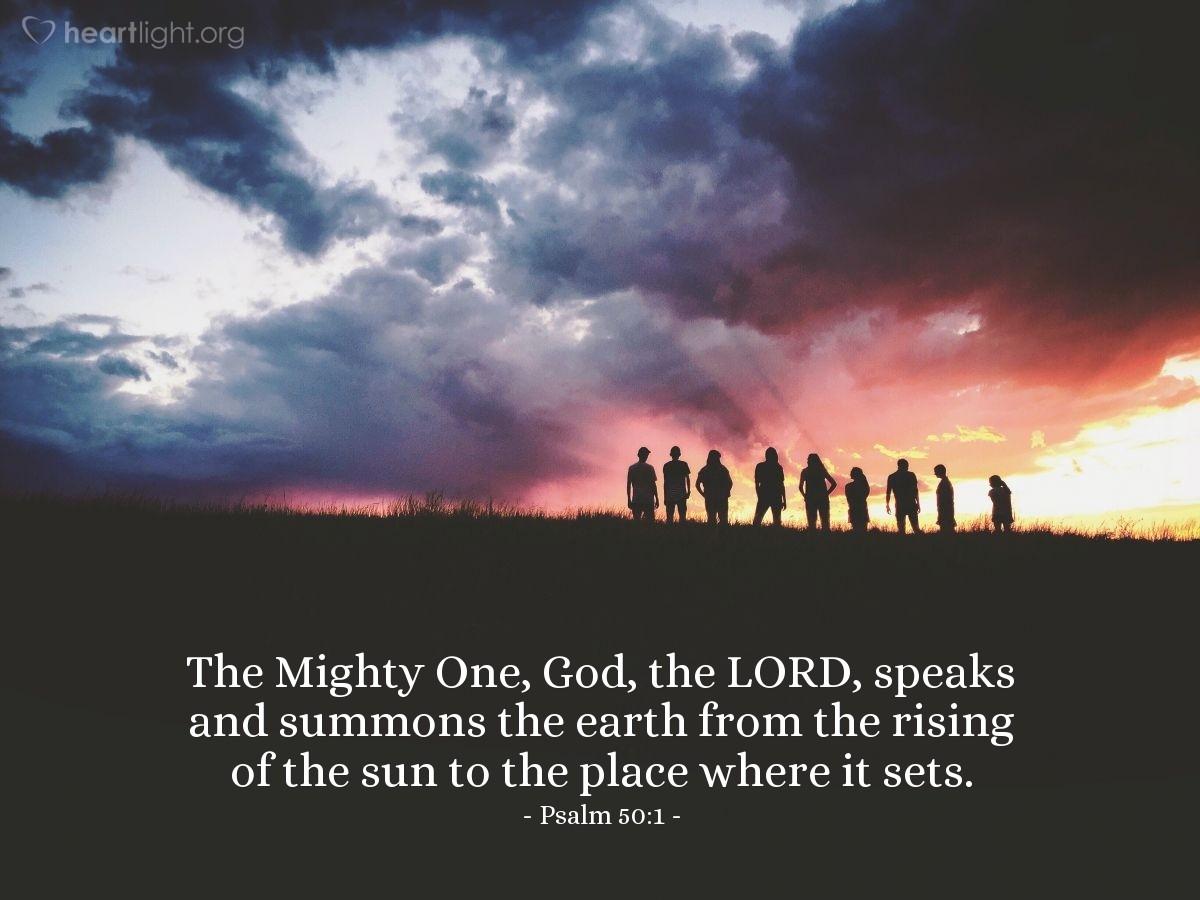 Inspirational illustration of Psalm 50:1