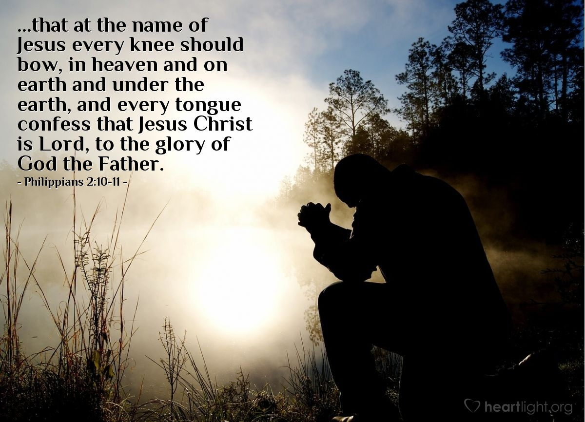 Inspirational illustration of Philippians 2:10-11
