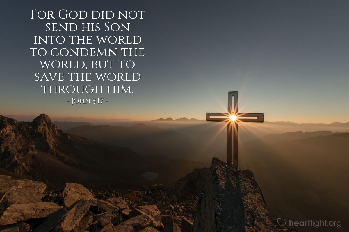 Inspirational illustration of John 3:17