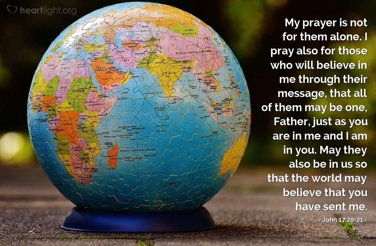 Inspirational illustration of John 17:20-21