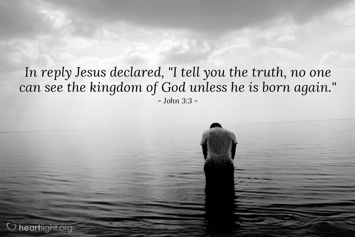 Inspirational illustration of John 3:3