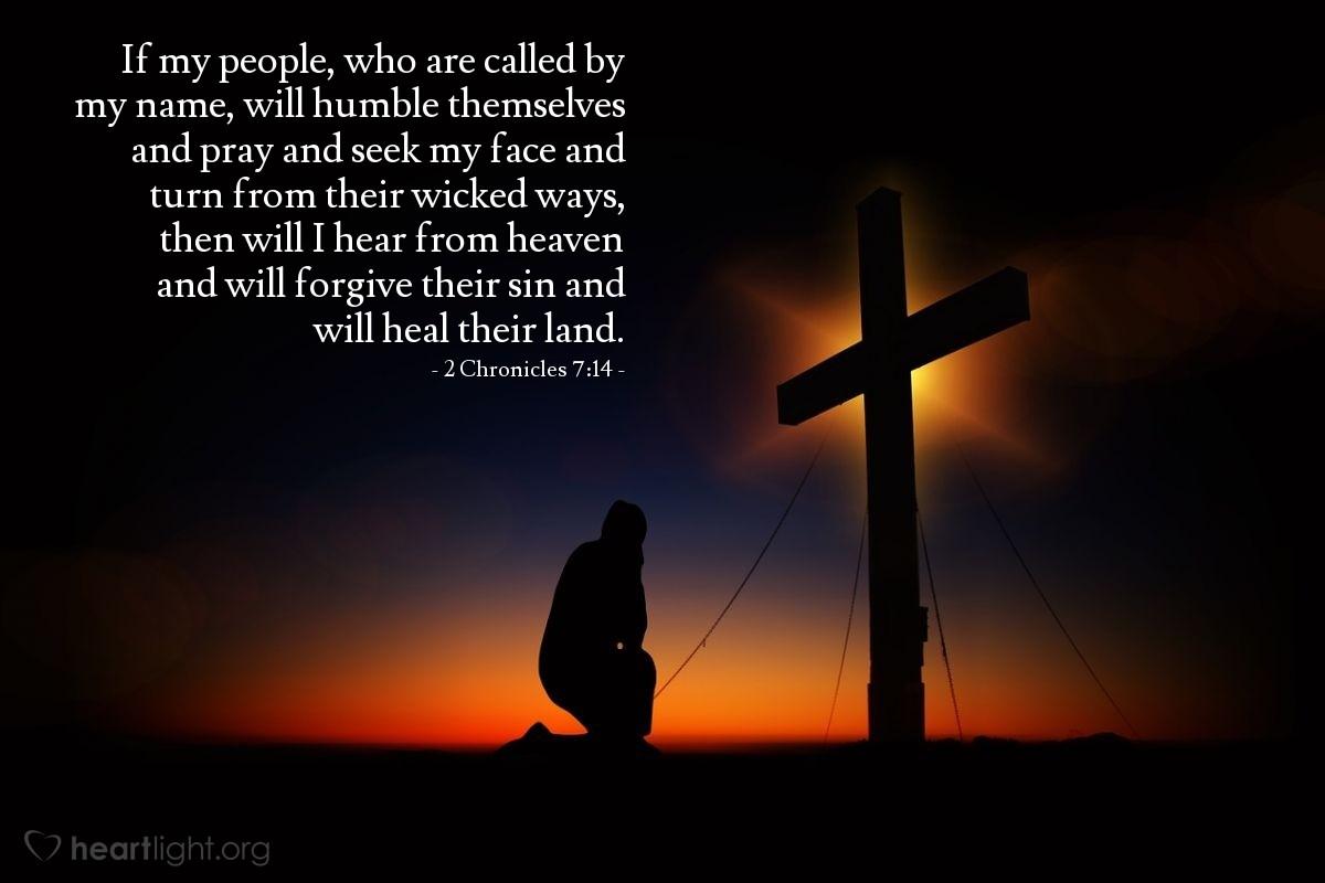 Inspirational illustration of 2 Chronicles 7:14