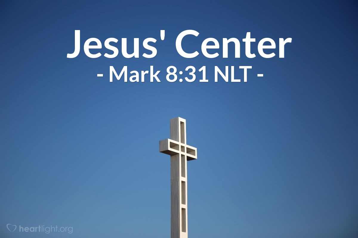 Illustration of Mark 8:31 —  Jesus taught that the Son of Man must be killed and then rise from death after three days.