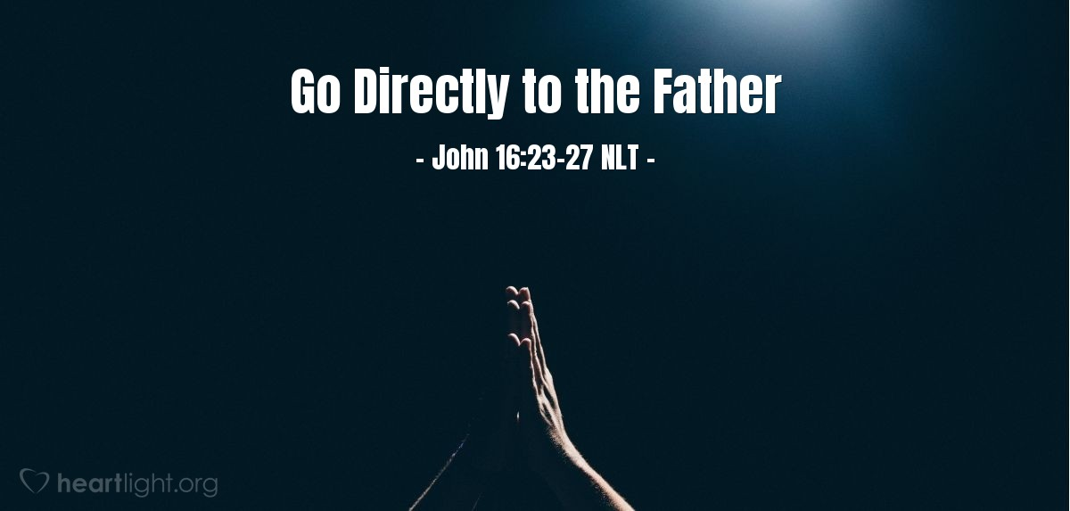 Illustration of John 16:23-27 —  My Father will give you anything you ask for in my name.