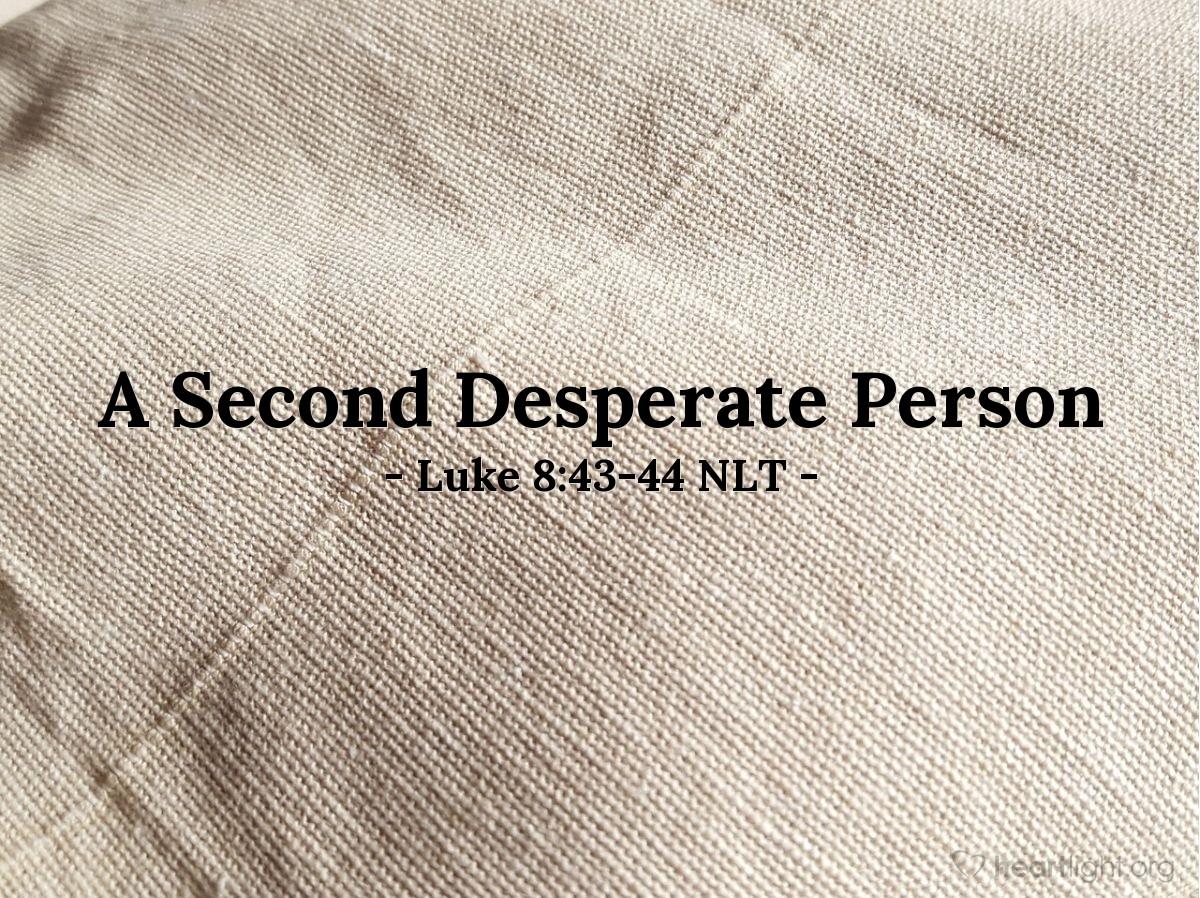 Illustration of Luke 8:43-44 —  At that moment, her bleeding stopped.