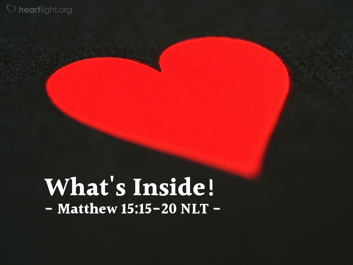 """Illustration of Matthew 15:15-20 — """"Explain to us what you said earlier to the people."""""""