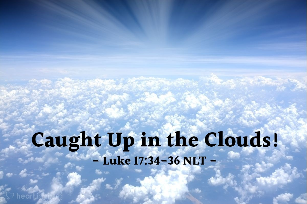"""Illustration of Luke 17:34-36 — """"At the time when I come again, there may be two people sleeping in one room."""""""