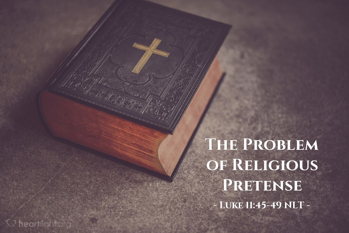 """Illustration of Luke 11:45-49 — """"Teacher, when you say these things about the Pharisees, you are criticizing our group too."""""""