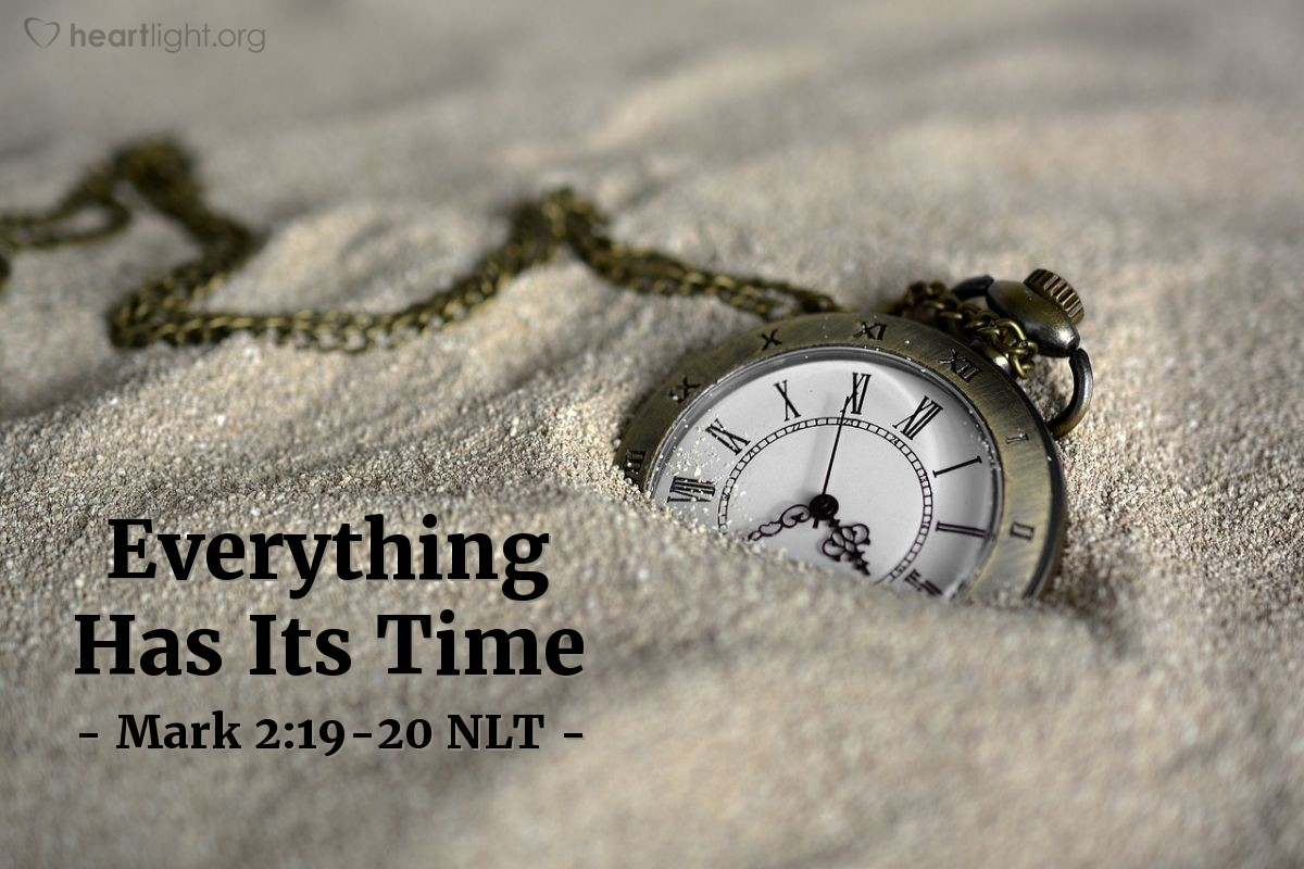 Illustration of Mark 2:19-20 —  But the time will come when the bridegroom will leave them.