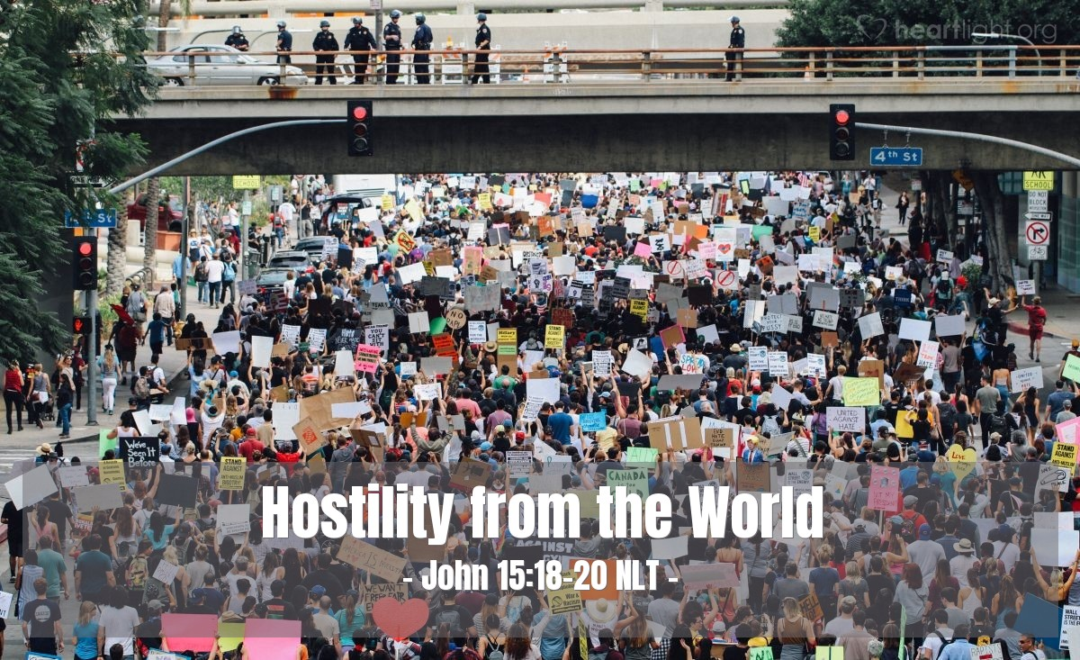 Illustration of John 15:18-20 —  That is why the world hates you.