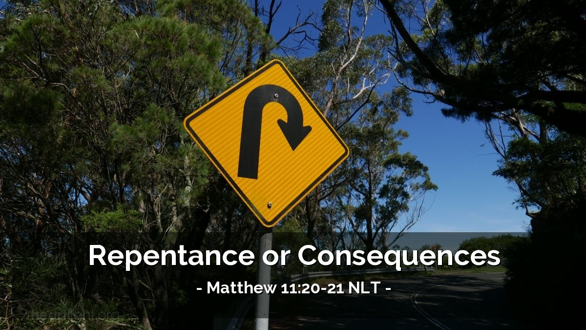 """Illustration of Matthew 11:20-21 — """"It will be bad for you Chorazin."""""""