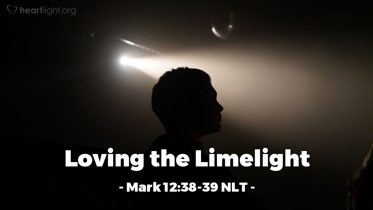"""Illustration of Mark 12:38-39 — """"Be careful of the teachers of the law."""""""