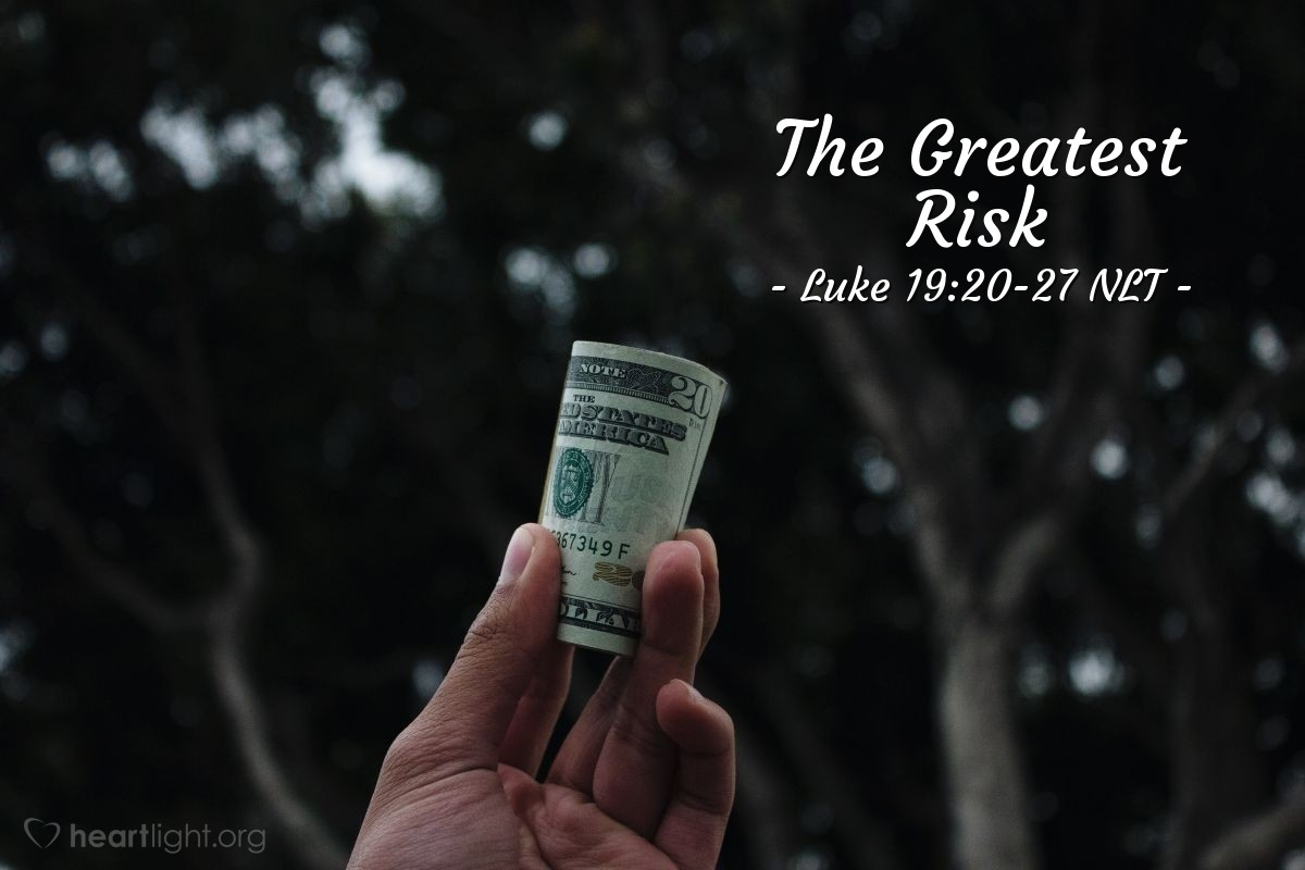 """Illustration of Luke 19:20-27 — """"Then another servant came in."""""""