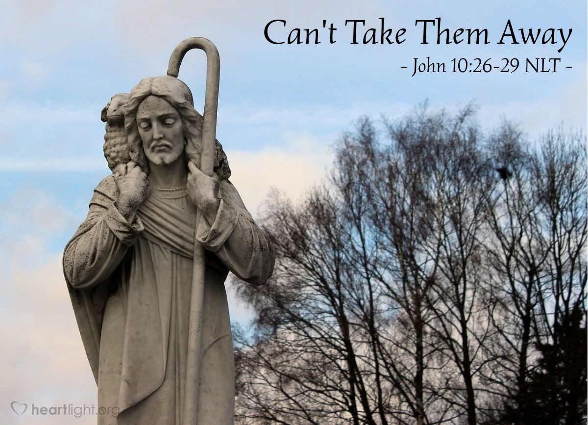 "Illustration of John 10:26-29 — ""But you don't believe."""