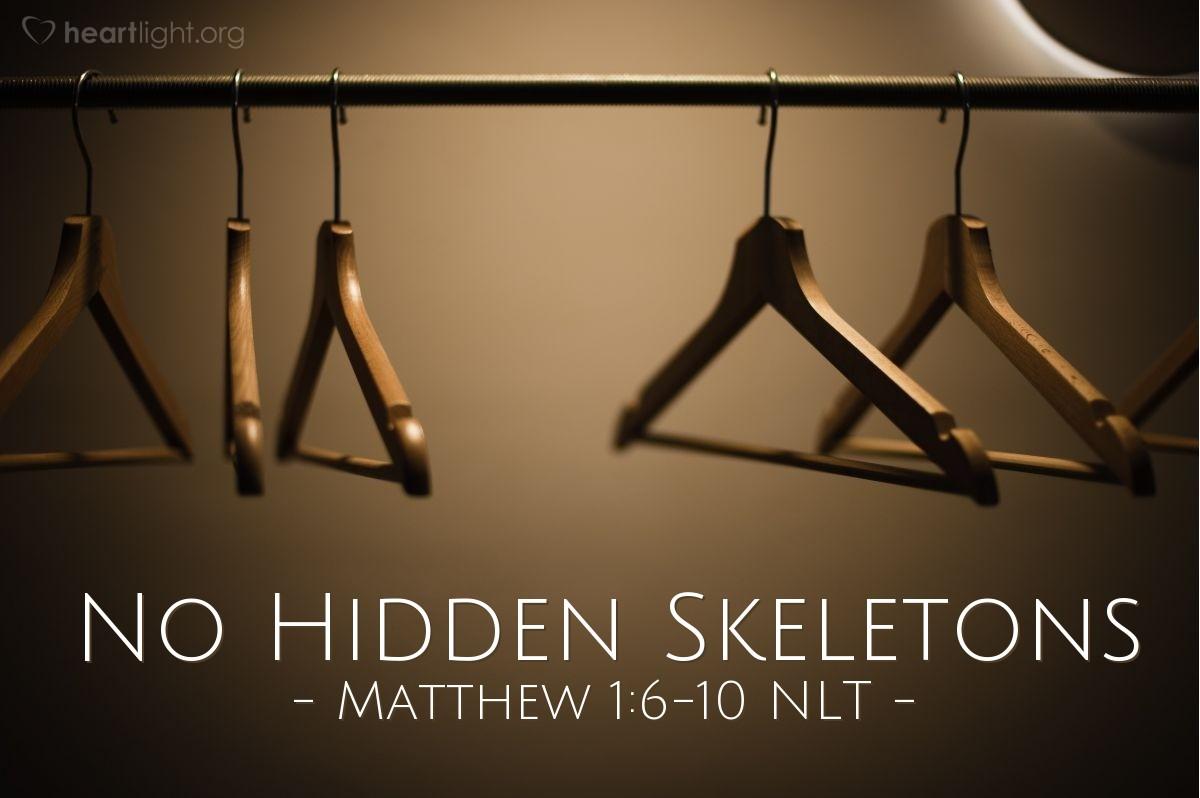 Illustration of Matthew 1:6b-10 —  Amon was the father of Josiah.